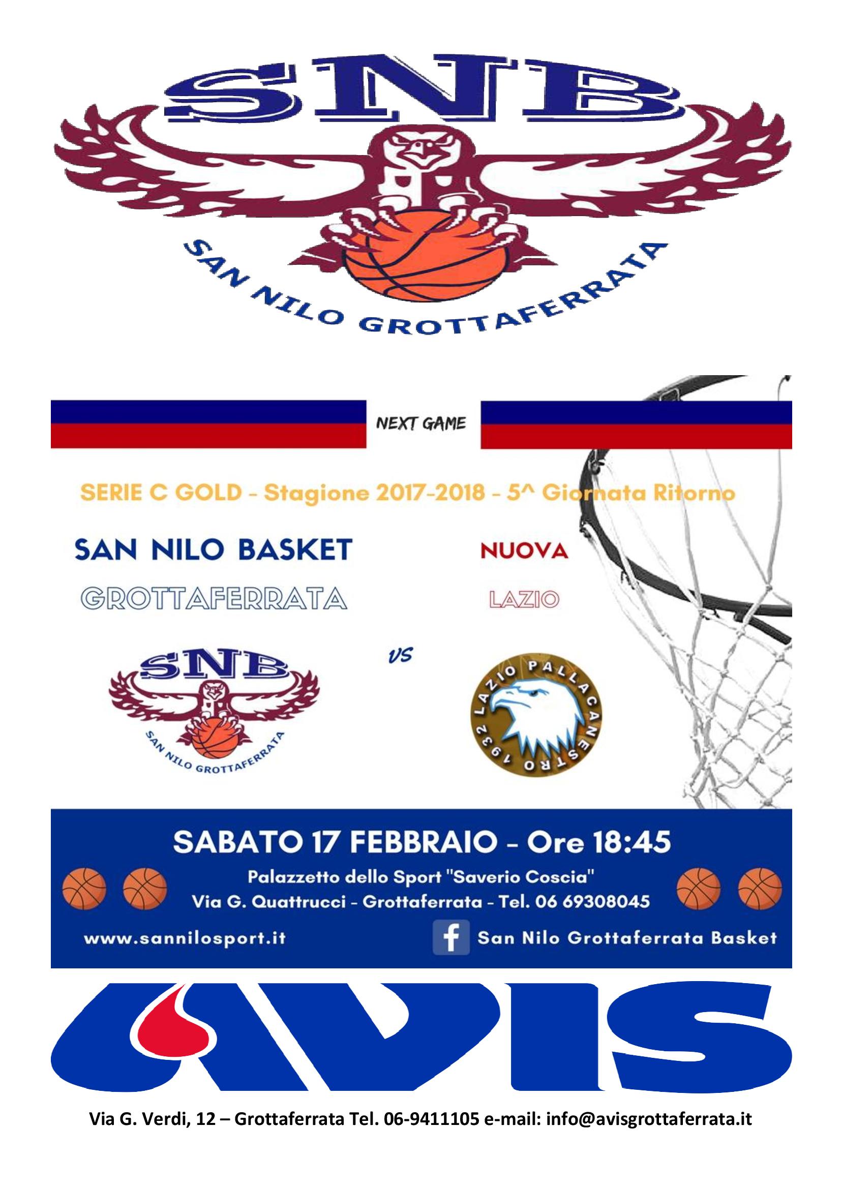 TORNEO BASKET SABATO 17 FEBBRAIO